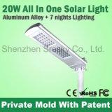 réverbère solaire de 10W-20W DEL avec la conformité de FCC de la CE