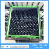 Cylindre de gaz noir et blanc sans soudure de 50kgs 40L 150bar