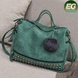 최신 모피 부속품 Sy8099를 가진 형식에 의하여 장식용 목을 박는 핸드백 숙녀 운반물 어깨에 매는 가방