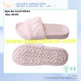Women Slide Sandal EVA Sole Peluches Fur Slippers Colorful Upper Fur