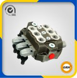 2 alavancas Monoblock Válvula de controle hidráulica Direccional Handle Spool Valve