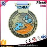 Médaille commémorative de la récompense 3D de bronze bon marché fait sur commande en gros d'antiquité