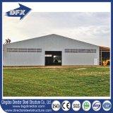 Edificio vertido y prefabricado del metal temporal de la agricultura de la estructura de acero