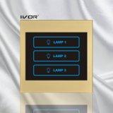 Bâti acrylique de commutateur de contact d'éclairage de 3 troupes (SK-LT100L3)