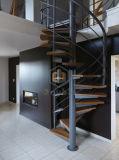Venta caliente en la escalera espiral de madera de acero de América A3