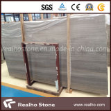 Laje de mármore de madeira cinza / cinza para painel de parede de chuveiro