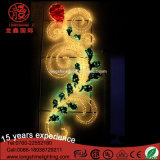 Project Lamp LED Post Flower 2D Motif Street Decoração Light