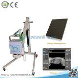 高周波フラットパネルの探知器の携帯用移動式デジタルレントゲン撮影機の価格