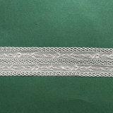 Laço novo do aparamento do Crochet da folha do projeto pela venda por atacado da jarda