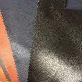 couro de Microfiber da grão de Lychee do falso de 1.8mm para as sapatas que fazem Hx-FM1701