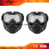 Verwijderbare Beschermende brillen van het Masker van de Beschermende brillen van de Motocross van Moto van de Vrouwen van mannen de de Modulaire en Filter van de Mond voor de Modulaire Open Helm van de Motorfiets van het Gezicht