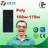 Poli mono modulo poco costoso di PV del comitato solare di 150W 160W 170W sulla vendita in azione
