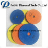 Almofada de polonês seca do granito molhado de mármore para o assoalho do concreto do diamante