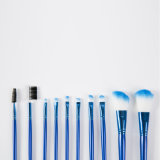 Dreammaker新しい10PCS青いMaquiagemの専門の構成のブラシ