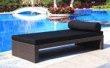 Tessuto impermeabile della mobilia della spiaggia del rattan e Lounger esterno del tubo di Aluminun (TG-JW11)
