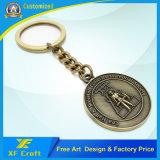 Fabricante de encargo del esmalte del metal llavero / sostenedor del anillo de Clave Promoción con cualquier logotipo (XF-KC09)