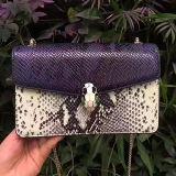 형식 뱀 패턴 가죽 어깨에 매는 가방 숙녀 교차하는 시체운반용 부대 핸드백 Emg5096