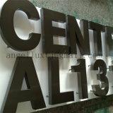 L'hôpital de l'école etc Lieu public métal en acier inoxydable signe signe la lettre de la publicité