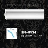 Polyuréthane de corniche d'unité centrale moulant le coin Hn-8534 de plafond d'unité centrale