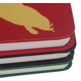 Cahier dur de couverture de tissu sensible direct de vente d'usine