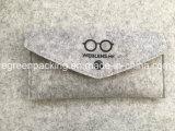 Saco de feltro da forma e da luz/caso com a tecla para Eyeglasses /Sunglasses (F2)