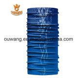 印刷される昇華は青のスポーツのバンダナをカスタム設計する