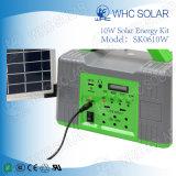 10W LED de Energía Solar Kit de iluminación de emergencia Inicio