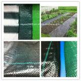 Le paysage tissu tissé, tapis de mauvaises herbes mauvaises herbes en plastique blanc mat