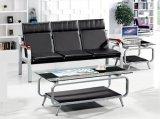 Heißes Verkaufs-Leder-Büro-Sofa-allgemeines Wartesofa 1+1+3 auf Lager