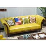現代余暇の居間の家具As846のための部門別の本革のソファー