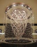Отель проекта квадратных Luxury Crystal потолочный светильник с КХЦ, UL