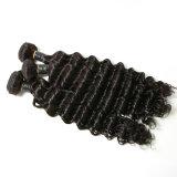 Brasilianisches Jungfrau-Haar-tiefe Welle drei Stücke in einem Satz