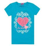 方法熱伝達の印刷(TS066W)を用いる快適な子供の摩耗のTシャツ