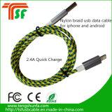 새로운 디자인 전화를 위한 대중적인 두 배 2in1 USB 데이터 케이블