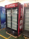 Neuer Entwurfs-doppelter Schiebetür-aufrechter Schaukasten für alkoholfreies Getränk