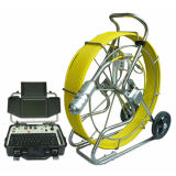 60m a 150m Cabo CCTV Pan Tilt Rotate Push Rod Sewer Camera Robot com Meter Counter Function