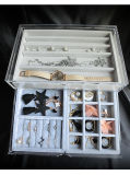 시계/반지 /Bracelete/Earring/목걸이 전시를 위한 5개의 서랍을%s 가진 아크릴 보석함,