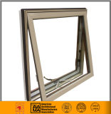 Aluminio color madera Ventana Toldo de cristal