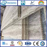 Comitato di pietra con il comitato di alluminio del favo per la decorazione della parete divisoria