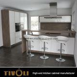 2 [بك] لمعان بيضاء مطبخ أثاث لازم مع صوّان مقادة أعلى ([أب103])