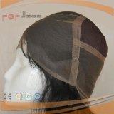 Parrucca del merletto legata mano francese completa dei capelli umani