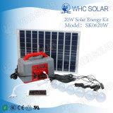 La función de radio más populares de 20W Inicio Kits de paneles de Energía Solar