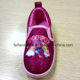 La escuela del Slip-on de los zapatos del cabrito de la historieta de la amapola calza los zapatos de la inyección (FF921-7)