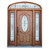 カシのマホガニーの二重葉のドアのドアシート