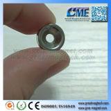 Imán avellanado anillo avellanado disco de calidad superior del orificio del imán del imán
