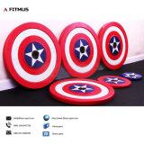 Il peso del supereroe placca i piatti del Barbell dello schermo del capitano America