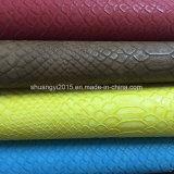 Het Leer van het Patroon Pu van de slang voor de Schoenen van de Manier
