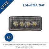 4 lampe agricole d'entraîneur de CREE de la lumière 20W d'industrie de pouce DEL