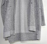 Pull à encolure en acrylique en jersey de coton