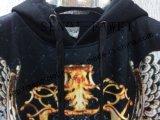 Vestuário de impressão digital Hoody com bolso lateral em roupas de homem Fw-8734